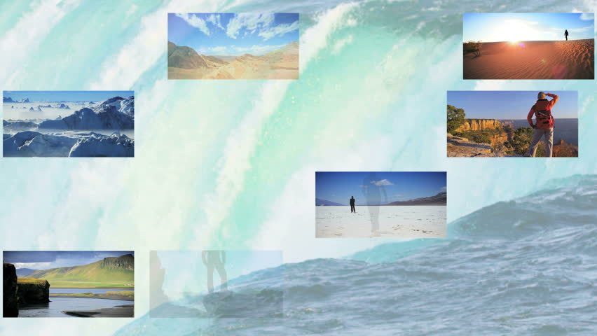 Montage images of natures natural global destinations and achievements of persons worldwide | Shutterstock HD Video #3325007
