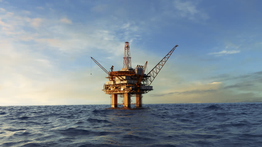 03014 Animation of an offshore oil platform. Fly-through shot. | Shutterstock HD Video #33252283