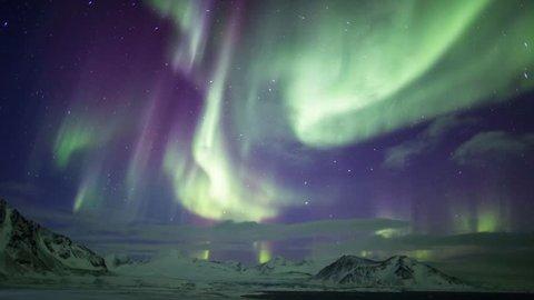 Northern lights over Spitsbergen