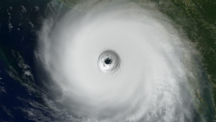 Hurricane: Into the Eye - A large hurricane spins ominously on the East Coast of the U.S. as we drop into it's eye, and dive into a stormy ocean.