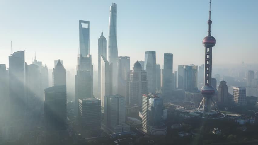 Aerial hyperlapse video of Shanghai in the morning | Shutterstock HD Video #33323983