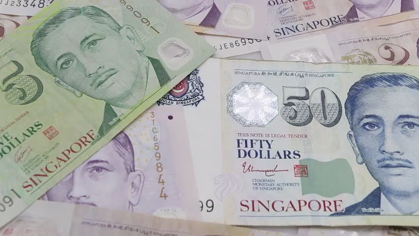 Singapore dollars, banknotes. | Shutterstock HD Video #33325453