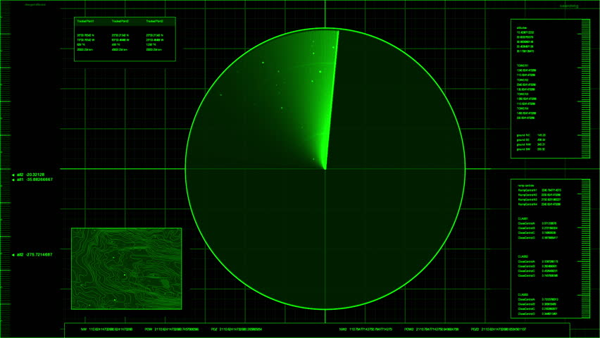 loop able green radar screen