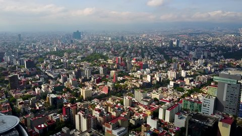 skyline of mexico city aerial