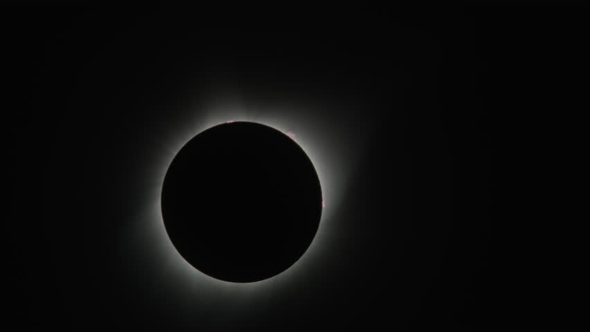 Total solar eclipse changing to reveal lens flare / Driggs, Idaho, United States