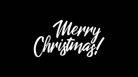 Merry Christmas Handwriting Animation. Calligraphy motion graphics. Merry Christmas Flat animation. Available in 4K FullHD and HD video 2D render footage.