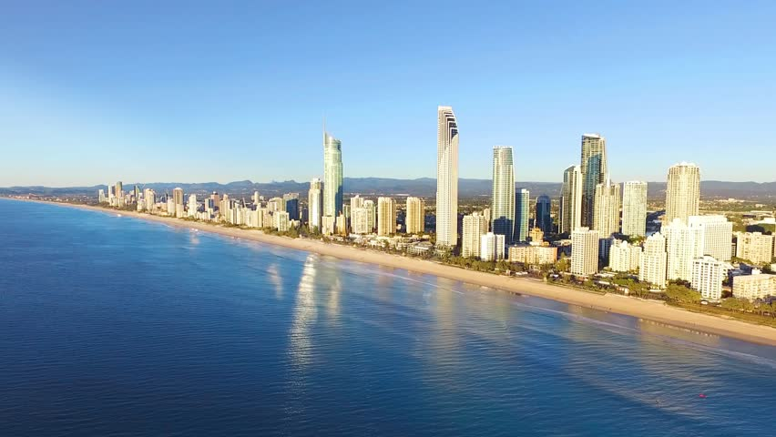 An aerial view of Surfers Paradise on the Gold Coast, Australia | Shutterstock HD Video #33457603