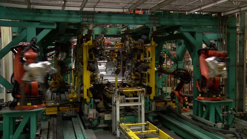 Automobile factory.Car production