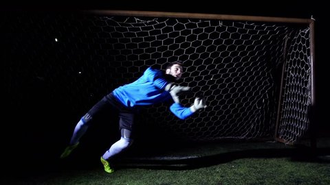 Soccer Goalkeeper - Super Slow Motion