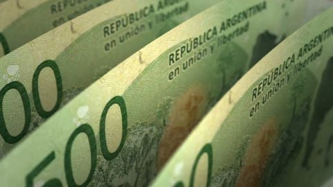 Argentinian Pesos Close-up (seamless) 3d Rendering