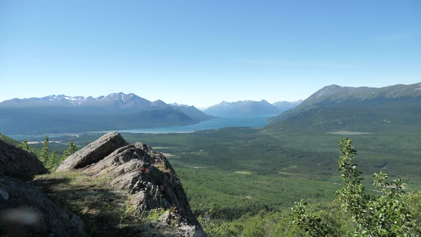 Young Man Standing Victoriously On Top Of The Mountain - Yukon Canada #33532633