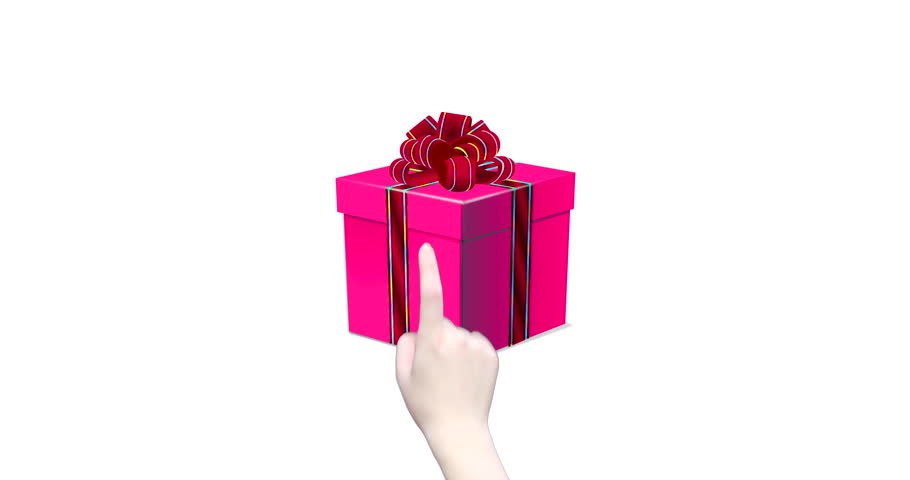 Merry Christmas to pink gift box and then to red heart when index finger clicks : animated concepts and ideas | Shutterstock HD Video #33544183