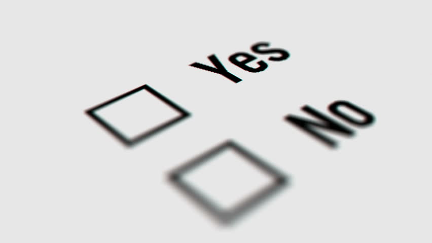 Close up of Yes and No Checkbox Marking Survey. Checking Yes and No Option on White Background. Mouse Cursor Clicking Checkbox. | Shutterstock HD Video #33560203