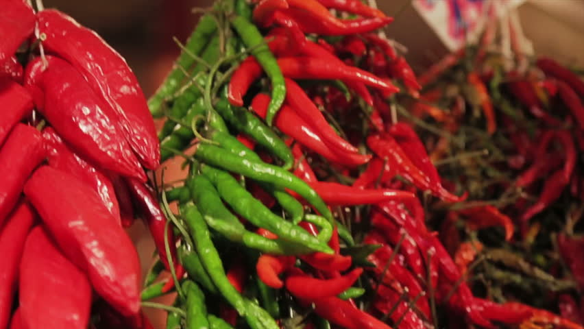 Chilies fresh in the marketplace