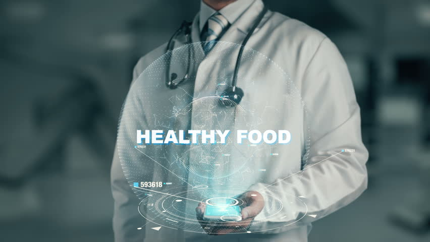 Doctor holding in hand Healthy Food | Shutterstock HD Video #33584599