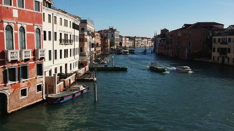 Canal in Venice, Italy from drone