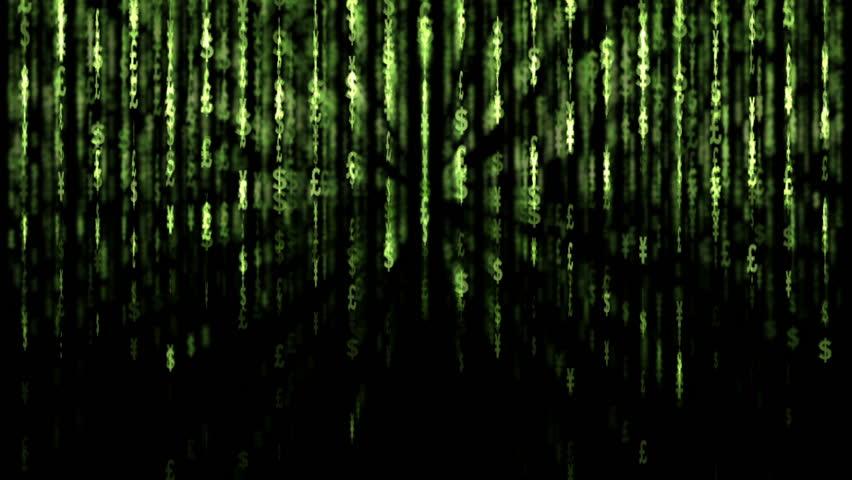 Matrix. Dollar background. 2009/02/17   Shutterstock HD Video #336313