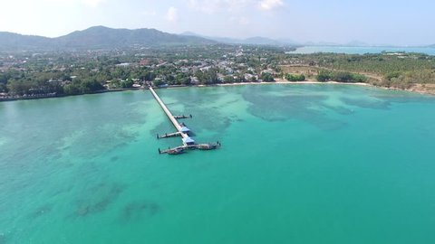 Rawai Phuket Thailand beach, bridge, surferes