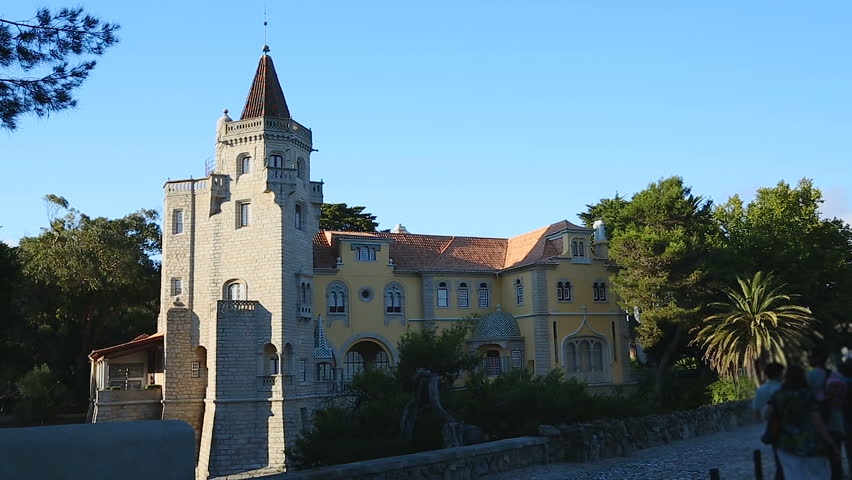 Castle Like House With Tower In Afternoon Sunlight Famous Architecture Tourism