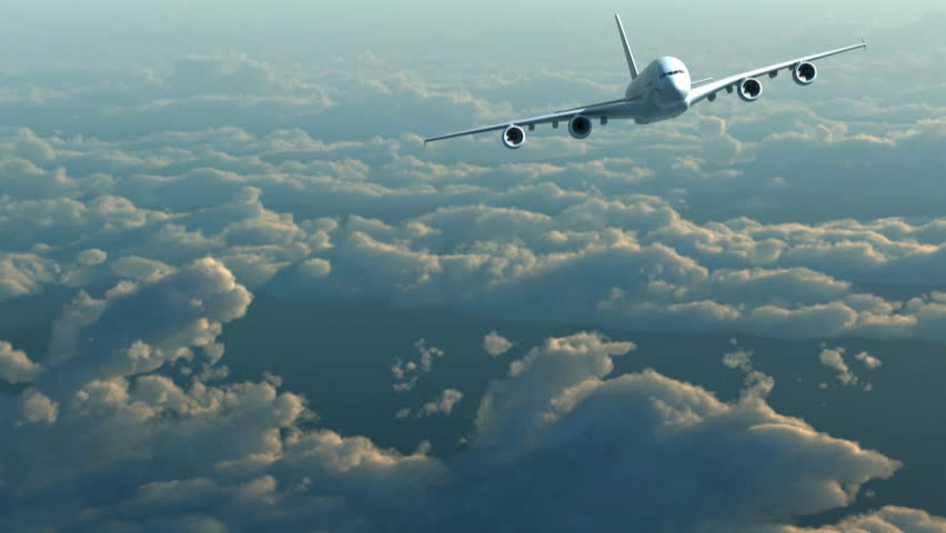 Plane flight against clouds | Shutterstock HD Video #3368468