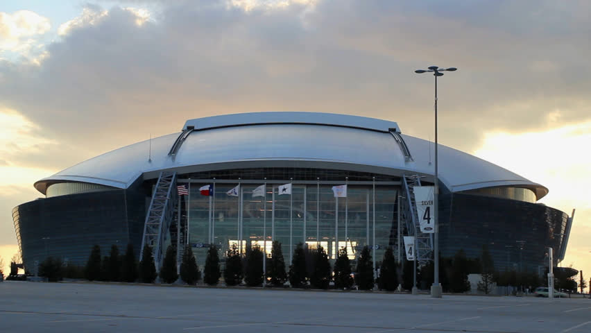 ARLINGTON - FEBRUARY 5th: Cowboys Stadium on February 5, 2013 in Arlington, Texas. Home of the NFL Dallas Cowboys since 2009. Also used by college football teams and others for sporting and non-sporting events.
