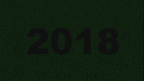 PF 2018 animation with dark shadow characters. Falling Letters Animation
