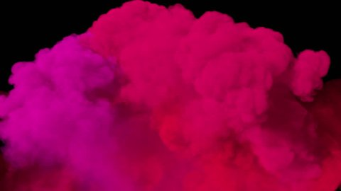 Spreading colored smoke, wiping frame from down to top. Good for wipe transitions & overlay effects. Density - low. Separated on pure black background, contains alpha channel.