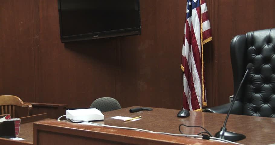Court Room - Empty Judge Stand / Seat   Shutterstock HD Video #33990073