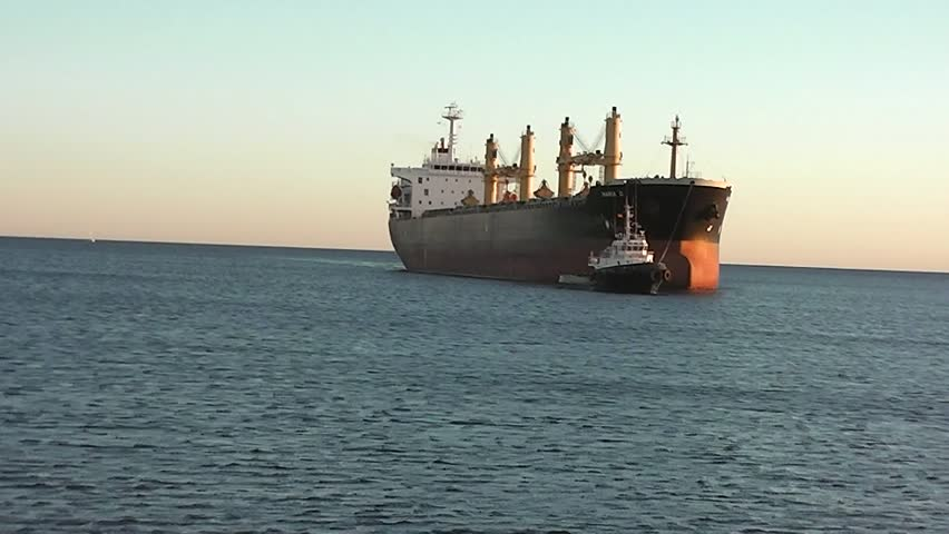 ALICANTE, SPAIN - FEB 14: Bulk carrier MARIA D at ALICANTE port, 02/14/2013.
