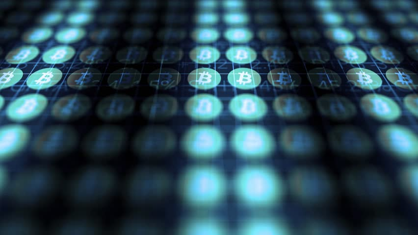 Ominous Dark Bitcoin data scrolling over investment screen V1 | Shutterstock HD Video #34030603