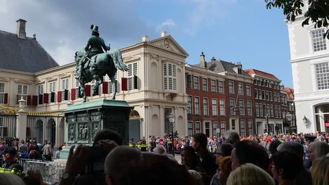 The Hague/The Netherlands/ 09-20-2016: Celebrations of the Prinsjesdag in the Netherlands