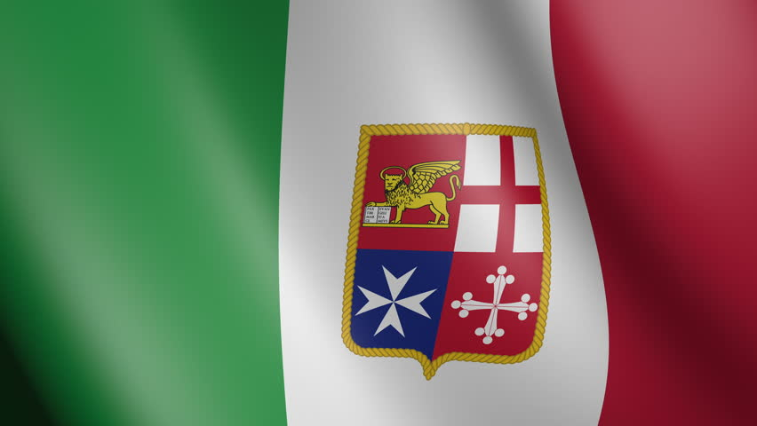 Flag of Italy with fabric texture, seamless loop | Shutterstock HD Video #34068523