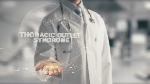 Doctor holding in hand Thoracic Outlet Syndrome