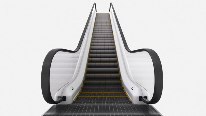 Hdtv animation of an escalator moving upwards on white background stock footage video 342103 shutterstock