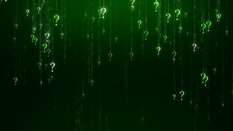 Many Questions Green Abstract background