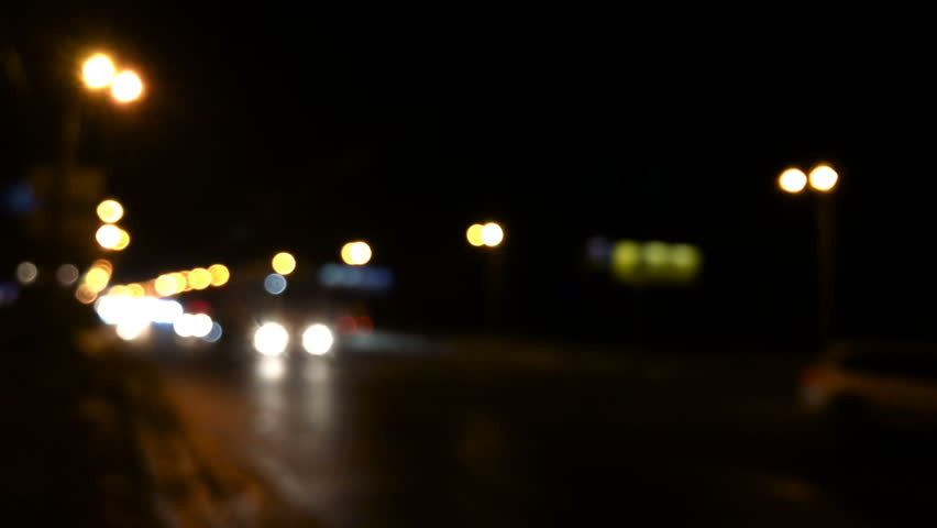 Defocused night city traffic lights | Shutterstock HD Video #34293703