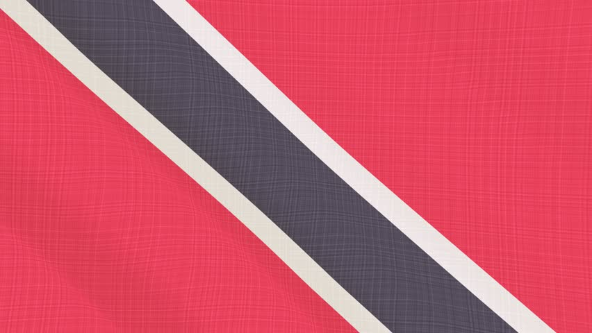 Trinidad And Tobago flag waving in the wind. Background with rough textile texture. Animation loop. Element for web site, presentation, import into video. | Shutterstock HD Video #34325713