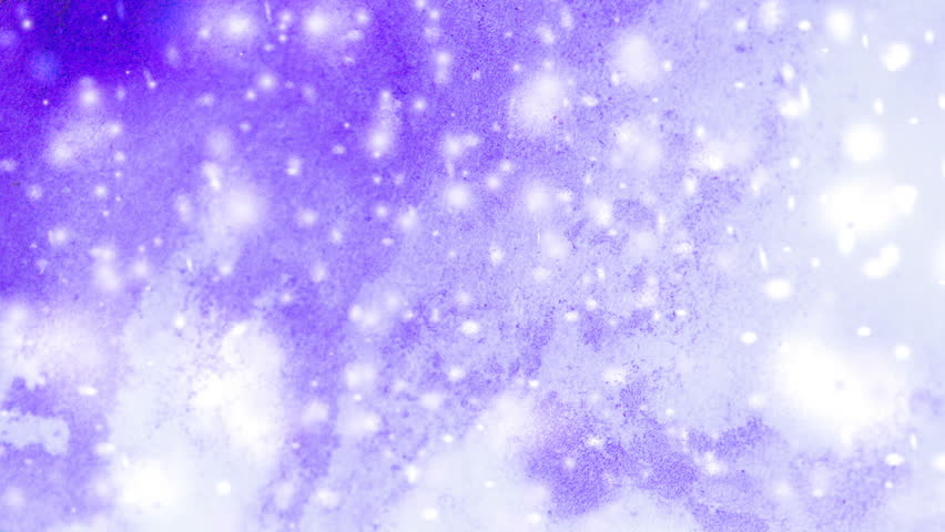 Abstract winter purple background with snowflakes. Winter backdrop purple ink drips and snowflakes. Winter Fairy New Year Christmas. Cinemagraph seamless loop animation motion gif render background