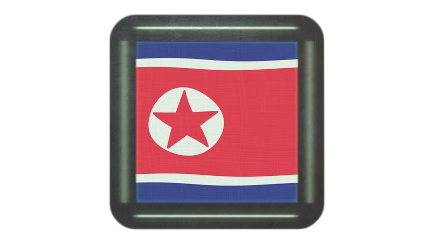 North Korea flag waving in the wind. Background with rough textile texture. Animation loop. Element for web site, presentation, import into video. | Shutterstock HD Video #34367413