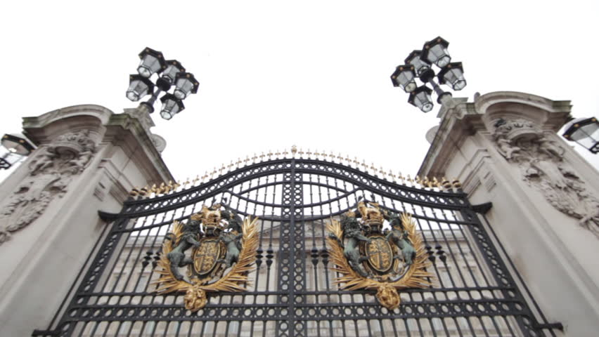 The gates at Buckingham Palace in London