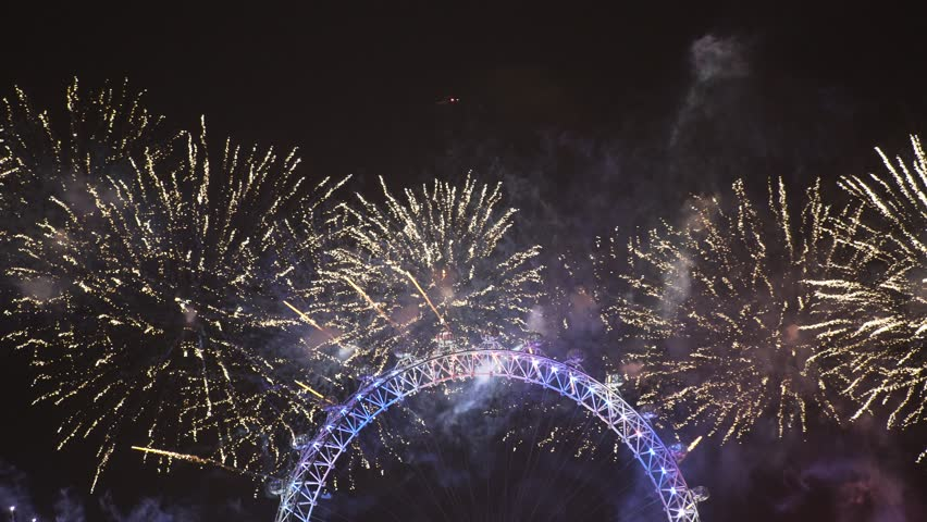 London Eye 2019 New Year Celebration Fireworks