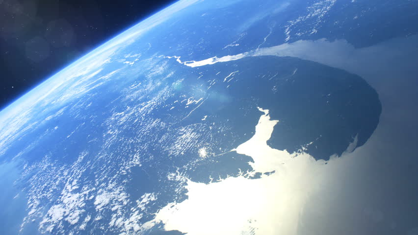 Space station flies around the Earth. Beautiful detailed animation. | Shutterstock HD Video #34426813