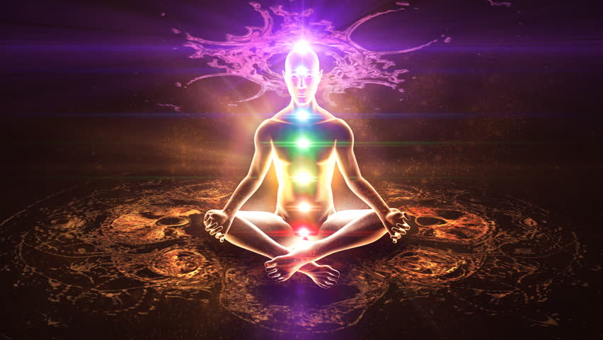 Yoga practice. Chakra activation and enlightenment.