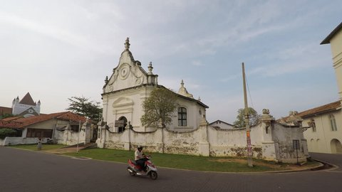 Dutch reformed church. an important. historical landmark with beautiful architecture in Galle. Sri Lanka. FullHD 1080p footage