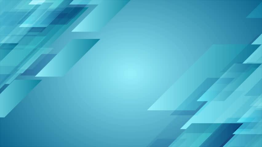 Blue geometric abstract tech motion design. Seamless looping. Video animation Ultra HD 4K 3840x2160 | Shutterstock HD Video #34734913