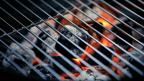 Barbecue in close-up