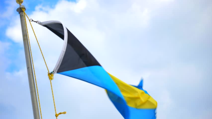 Flag of the Bahamas blowing in the wind