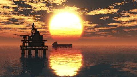 Oil Platform Tanker