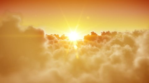 Heaven doors opening. Beautiful Sun and clouds are loopable. HD 1080.