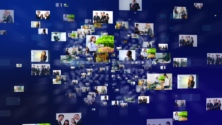 Pictures of business persons floating in cyberspace. | Shutterstock HD Video #34845733